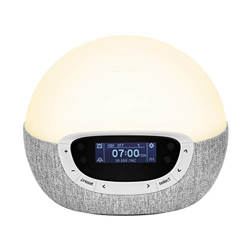 Lumie Bodyclock Shine 300 - Wake-up Light Alarm Clock with Radio, 14 Sounds and Sleep Sunset from Lumie