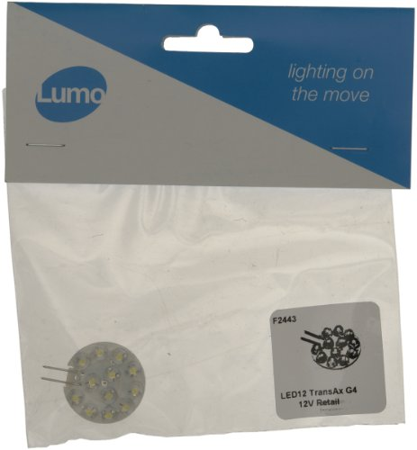 Lumo F2443 LED 12 Transax Halogen G4 Bulb, Pure White from Lumo