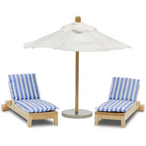 Lundby Dolls House Parasol and Deck Chair Set 3+ years from Lundby