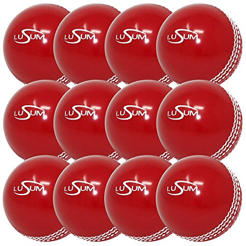 Lusum Safety 'Incrediball' Practice Cricket Balls x 12 (1 Dozen) (Youth) from Lusum