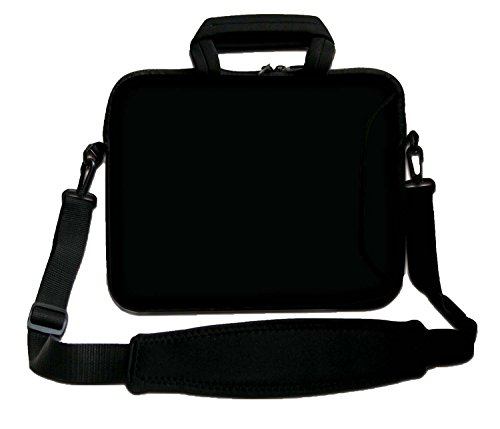 "LUXBURG 10"" Inch Design Laptop Notebook Sleeve Soft Case Bag With Handle and Shoulder Strap - Black from LUXBURG"