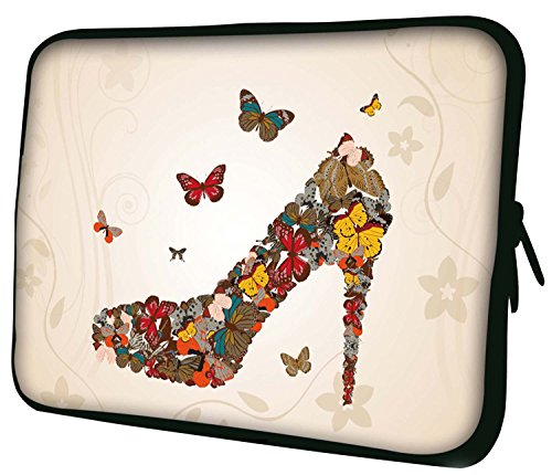 "LUXBURG 14"" Inch Luxury Design Laptop Notebook Sleeve Soft Case Bag - High Heel Butterflies from LUXBURG"