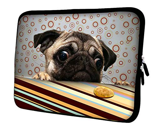 "LUXBURG 15"" Inch Luxury Design Laptop Notebook Sleeve Soft Case Bag - Pug and a cookie from LUXBURG"