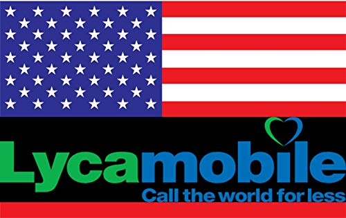 Prepaid SIM USA - 5GB 4G LTE - Unlimited international calls & texts - 30 Days from LycaMobile