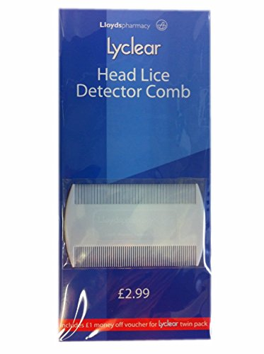 Lyclear Head Lice Detector Comb - Double Sided Nit Brush for Kids Pet Fleas from Lyclear