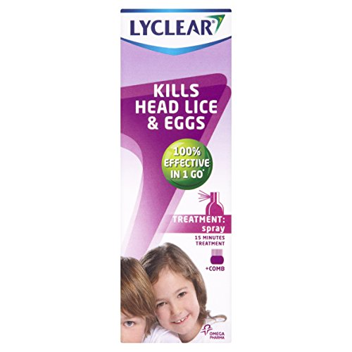 Lyclear kills Head Lice and eggs (Treatment Spray) from Lyclear
