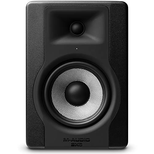 M-Audio BX5 D3 - Compact 2-way 5-inch studio monitor / speaker, active, for music production or mixing, with integrated acoustic room control, 1 piece from M-Audio