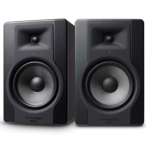 M-Audio BX8 D3 Pair - Professional 2-way active studio monitor and PC speaker 8 inch woofer, 150 W for music production and mixing with built-in acoustic space control, 2 pieces from M-Audio