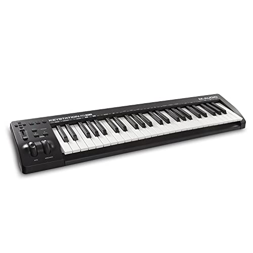 M-Audio Keystation 49 MK3 - 49-Key USB MIDI Keyboard Controller with Pitch / Modulation Wheels, Plug & Play (Mac/PC) Connectivity, Free Online / App Lessons and Software Production Suite included from M-Audio