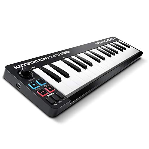 M-Audio Keystation Mini 32 MK3 | Ultra-Portable Mini USB MIDI Keyboard Controller With ProTools First | M-Audio Edition and Xpand!2 by AIR Music Tech from M-Audio