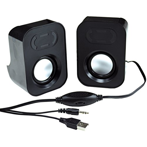MCL HP-USB2 USB Mini Speaker - Black from M.C.L