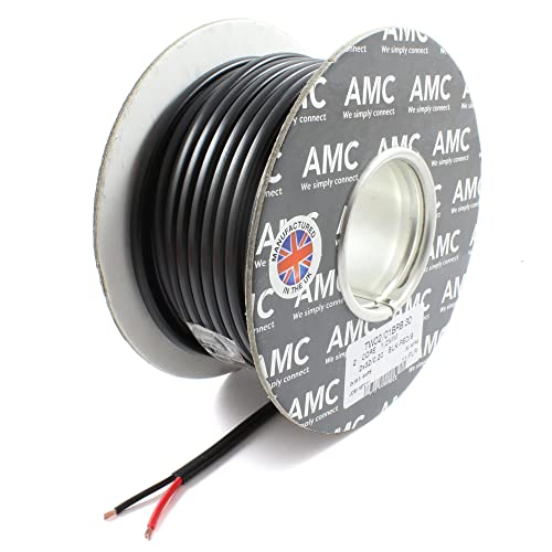 *16.5 AMP Rated* 1mm2 Thin Wall 2 Twin Core Cable Wire Car LED Lights (30M Coil) from MAC
