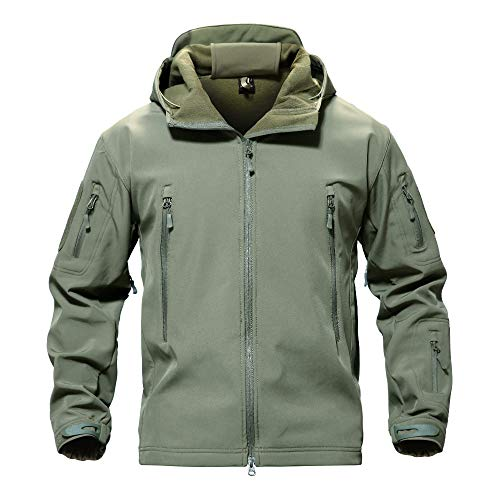 Men's Windproof Waterproof Jacket Mountain Durable Combat Coat Army Green from MAGCOMSEN