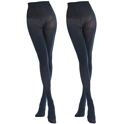 ee67784517d8e MANZI 2 Pairs 70 Denier Women's Tights Stretch Run Resistant Opaque Control  Top Tights, XL
