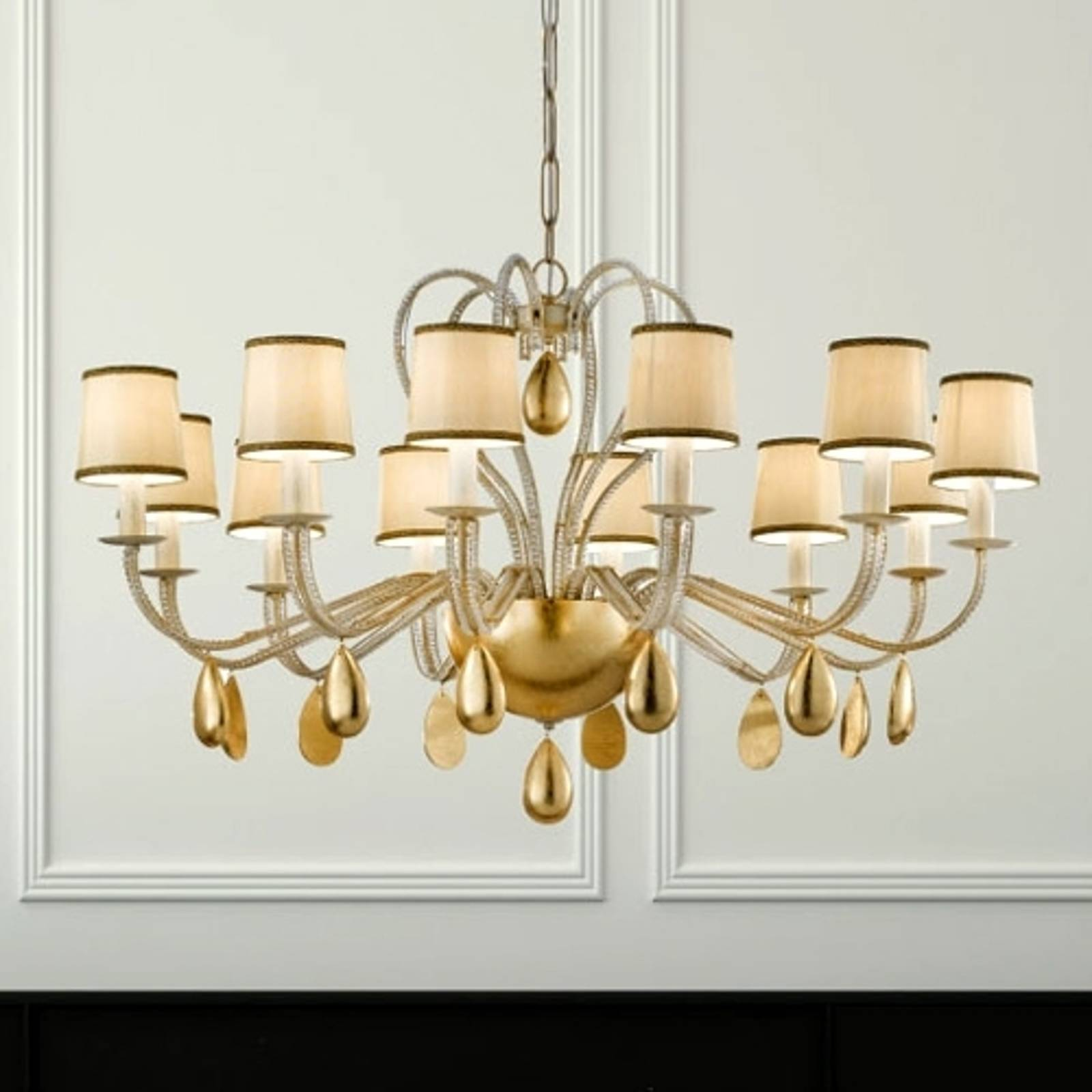 ANOUK cream-coloured chandelier 115 cm from Masiero