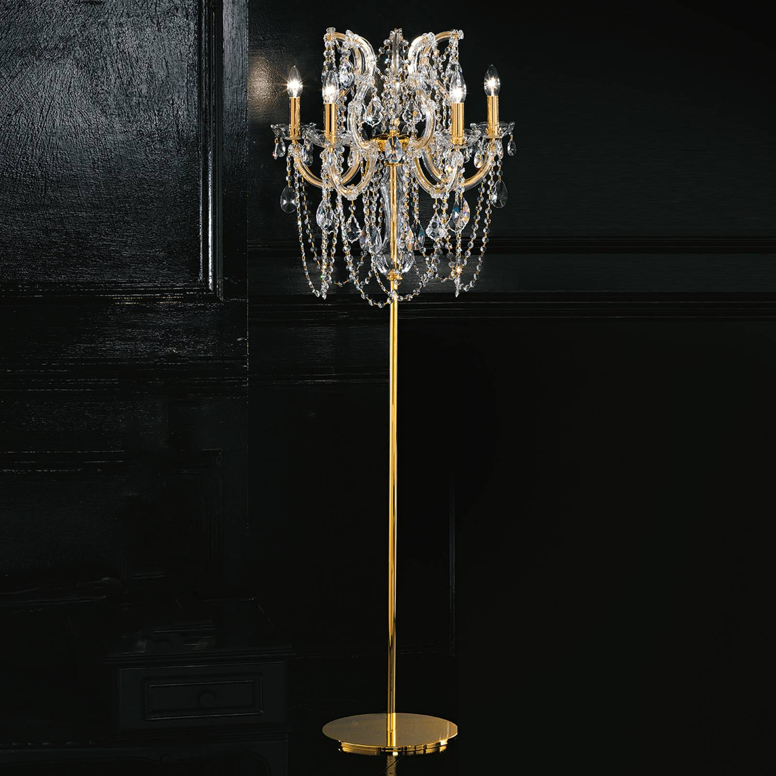 Annino sublime floor lamp with Swarovski elements from Masiero