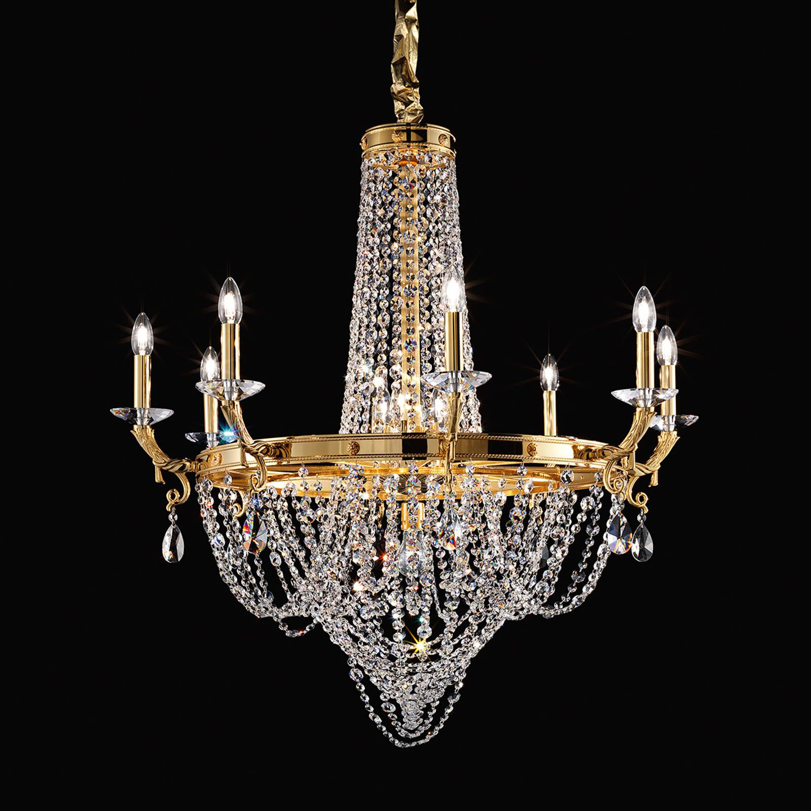 Elisabetta crystal chandelier made of brass from Masiero