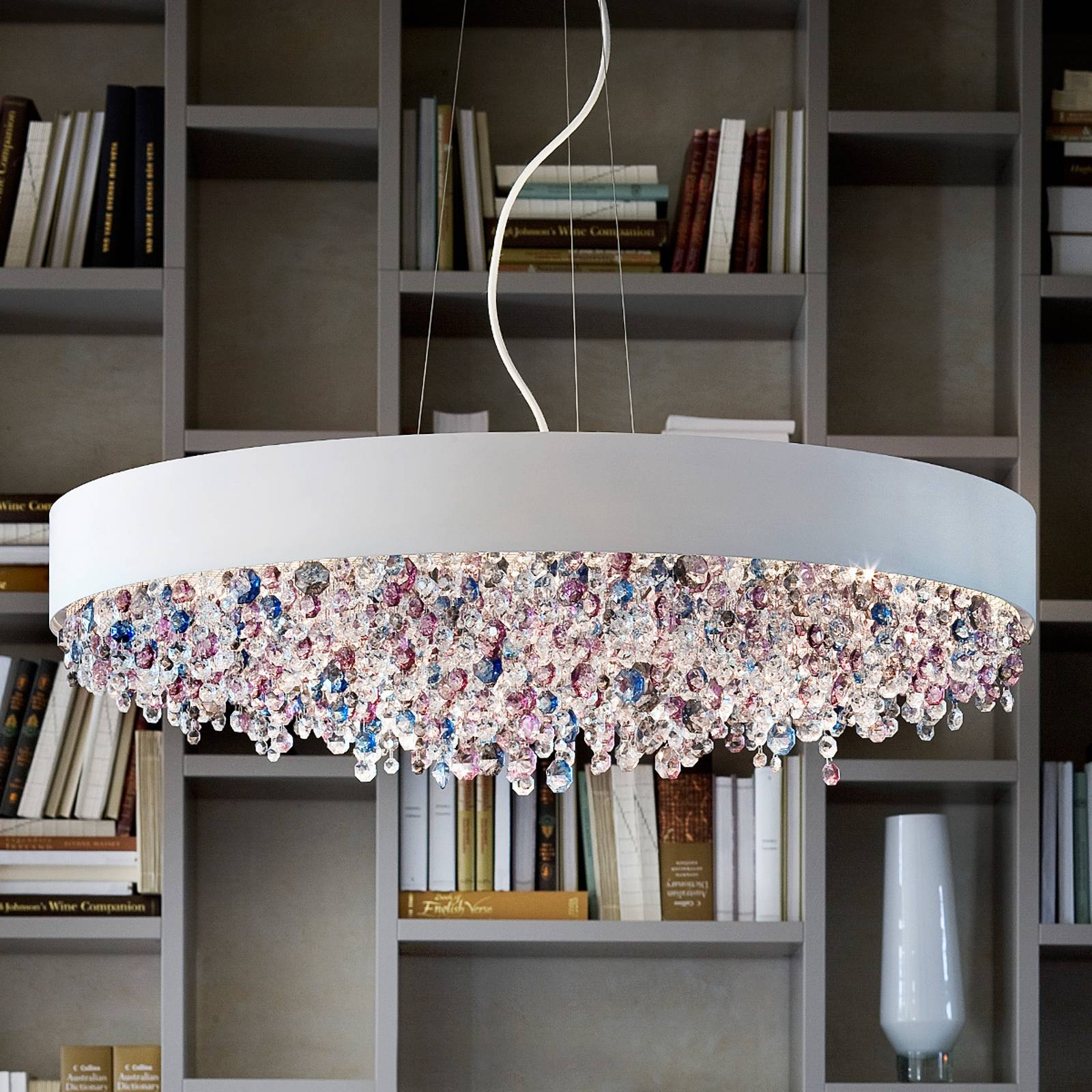 Fascinating hanging light Ola S6 90, cold white from Masiero