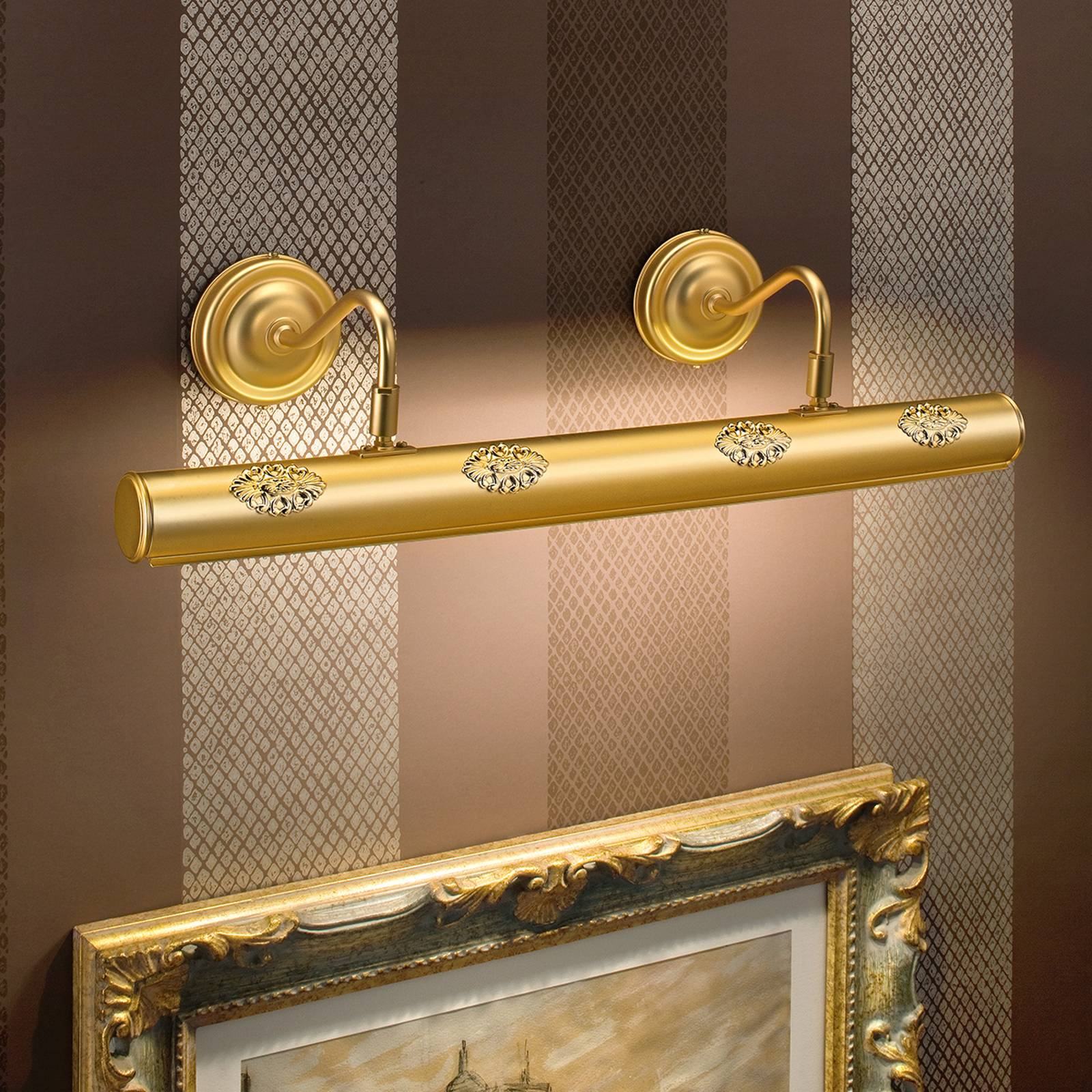 Henrika - gold-plate picture light with décor from MASIERO