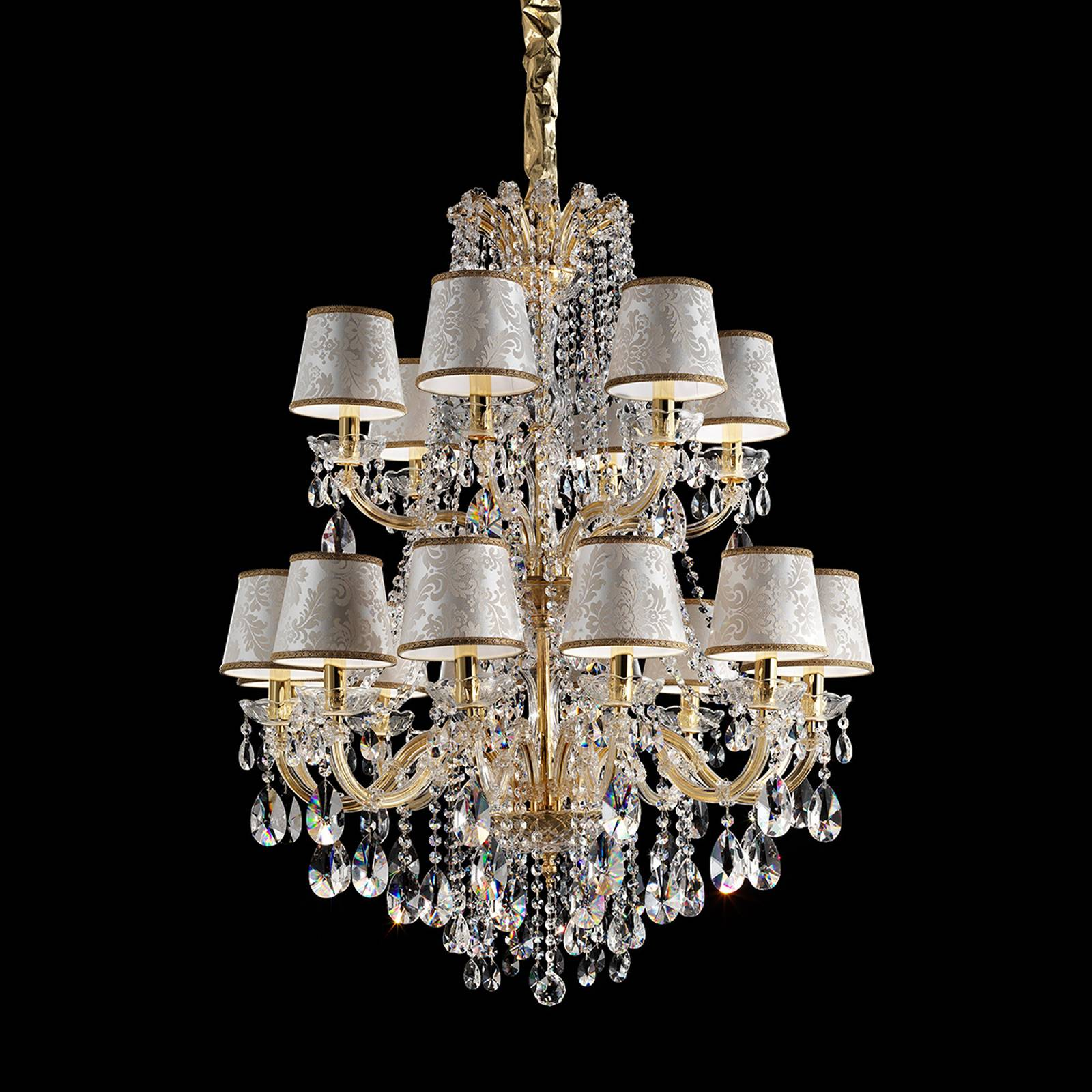 Marianna gold-plate chandelier from Masiero