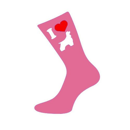 I Love Cocker Spaniel Womens Pink Socks from MC Gifts