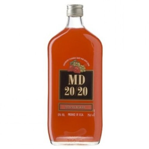 75cl MD 20/20 Strawberry Flavoured Fortified Wine (Case of 6) from MD 20/20