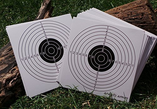 100 x ANGLO ARMS 140MM X 140MM CARD SHOOTING PAPER TARGETS AIRGUN RIFLE PRACTICE from MD FlashLights Etc Ltd