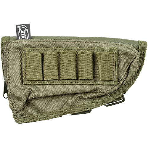 MFH RIFLE STOCK BUTT CHEEK PAD AMMO POUCH GREEN OD from MFH