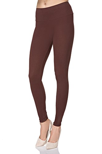 f8800a26396e52 MITAAMI High Waisted Leggings for Women with Control Waistband Plus Sizes  Brown 16 from MITAAMI