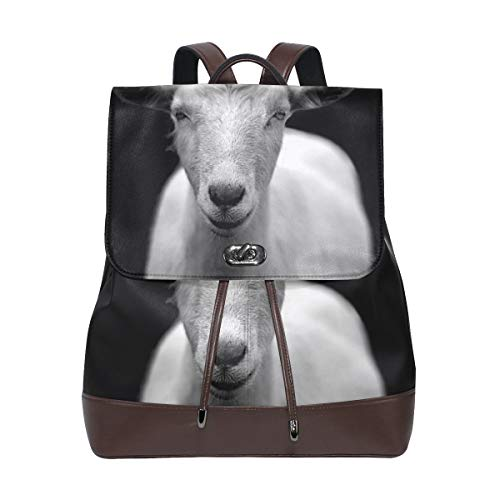 MONTOJ Goat Realistic Picture leather Travel bag Campus Backpack from MONTOJ