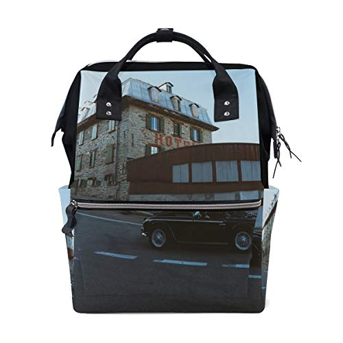 MONTOJ Highway Hotel Open Car canvas Travel bag Campus Backpack from MONTOJ