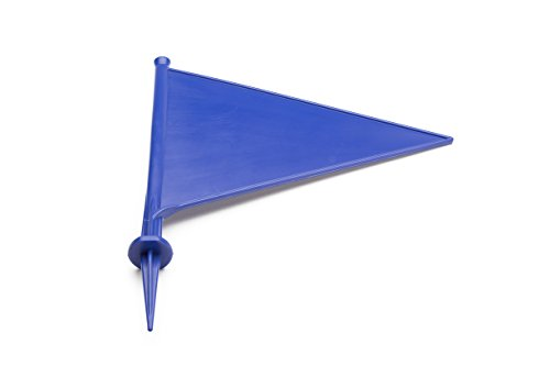 MPL Gardening Unisex Cricket Boundary Marker Flags, Pack of 10, Blue from MPL Gardening