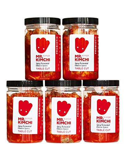 5 X 330g GET 1 Free Jar Freshly UK- made Kimchi based on Authentic Korean Recipe (Natural Fermentation, Natural Probiotics, No Artificial Additives) from MR.KIMCHI