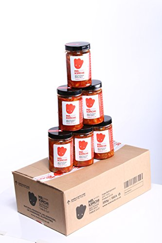 8 X 330g Freshly UK- made Kimchi based on Authentic Korean Recipe (Natural Fermentation, Natural Probiotics, No Artificial Additives) from MR.KIMCHI
