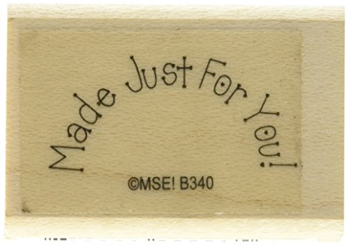 MSE Wood My Sentiments Exactly Mounted Stamp 1-Inch x 1.5-Inch-Made For You from MSE