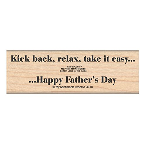 MSE Wood My Sentiments Exactly Mounted Stamp 1.5-inch x 4.5-inch, Kick Back Dad from MSE