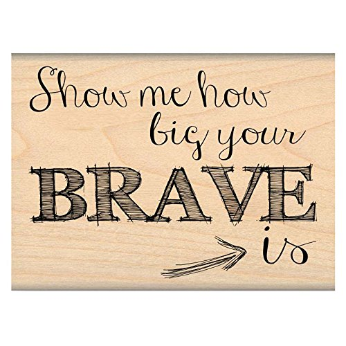MSE Wood My Sentiments Exactly Mounted Stamp 2-Inch x 2.5-Inch-You're Brave from MSE