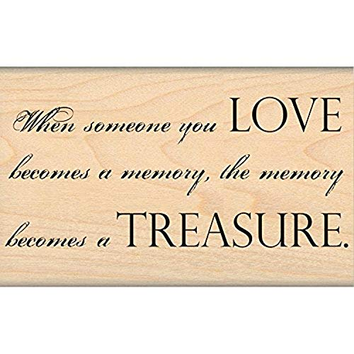 MSE Wood My Sentiments Exactly Mounted Stamp 2-inch x 3.25-inch, Love Treasure from MSE