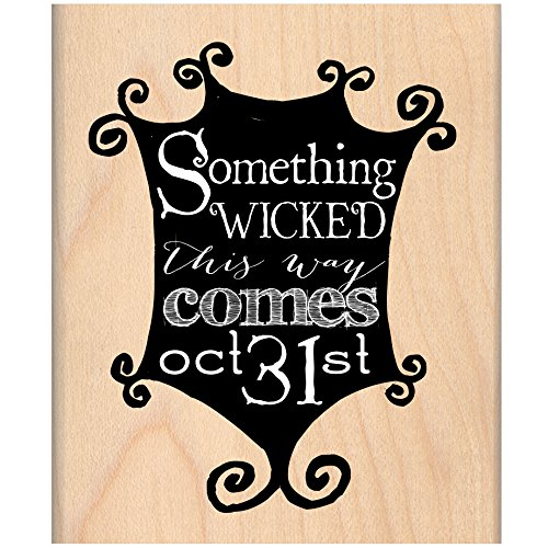 MSE Wood My Sentiments Exactly Mounted Stamp 3-Inch x 2.5-Inch-Something Wicked from MSE