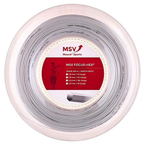 MSV Focus-Hex String Reel - White, 1.23 mm from MSV