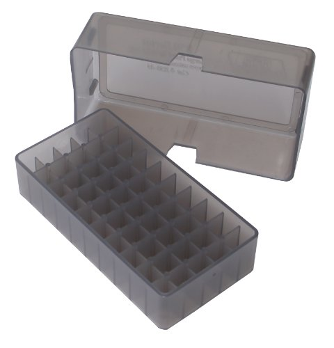 MTM 50rd Ammo Box .45 - Slip Top (Smoke) from MTM