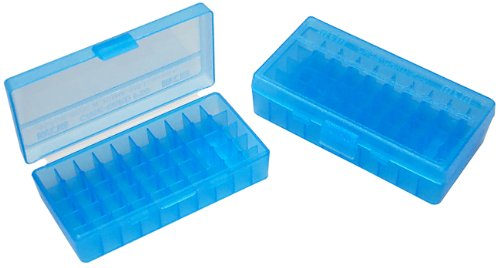 MTM Handgun Ammo Box - 50rd .44 (Clear Blue) from MTM