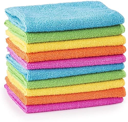 MTS 10/20/30/40/50 Microfibre Cleaning Cloths Dusters Car Bathroom Polish Towels (10) from MTS