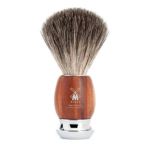 MÜHLE 81H331 VIVO, Plumwood Pure Badger Shaving Brush from MÜHLE