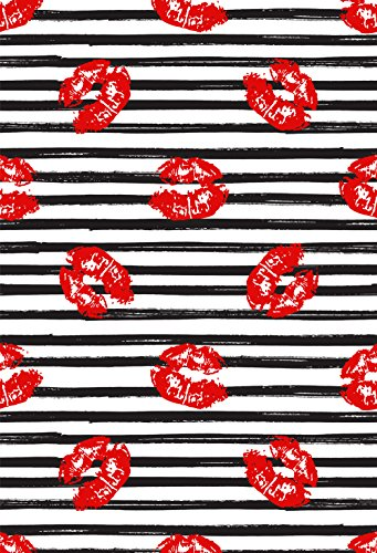 Muzi Photography Backdrops Red Lips in the White and Black Stripes Background Birthday Party Wedding Birdal Shower Photocall for Studio Prop 150x220cm XT-6489 from MUZI