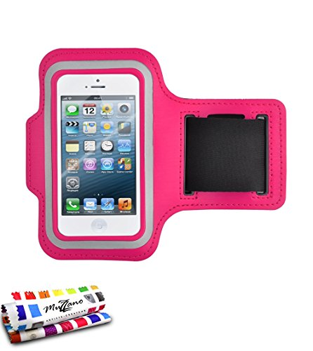 MUZZANO Genuine Armband for Apple iPhone 5 - Hot Pink from MUZZANO