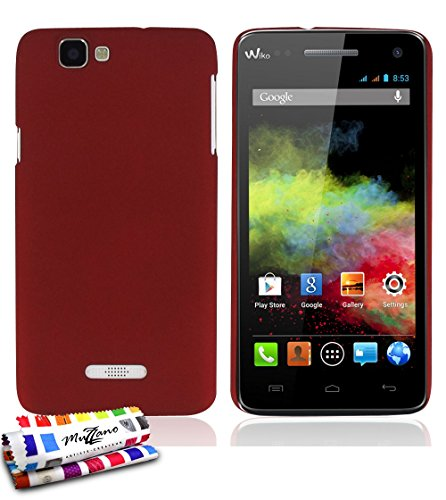 MUZZANO Original Le Pearls Rigid Case for Wiko Rainbow - Red from MUZZANO