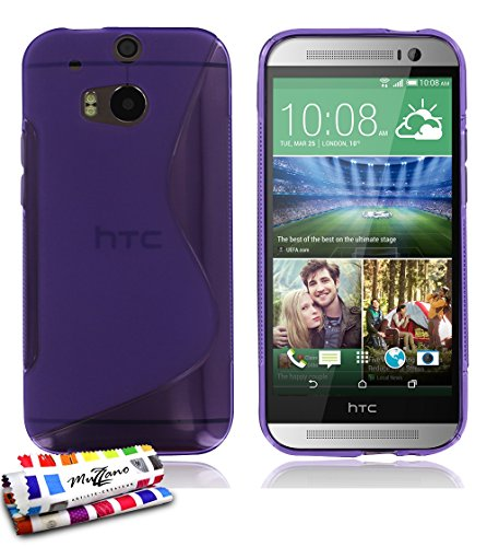 "MUZZANO Original Le S"" Premium Flexible Shell Case for HTC M8 - Purple from MUZZANO"