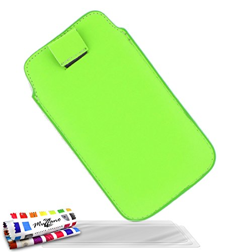 MUZZANO Original Le Sweep Case Cover for LG L7 with 3 Ultra-Clear Screen Protectors - Green from MUZZANO