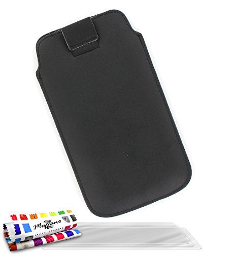 MUZZANO Original Le Sweep Case Cover for Samsung Galaxy Express with 3 Ultra-Clear Screen Protectors - Black from MUZZANO